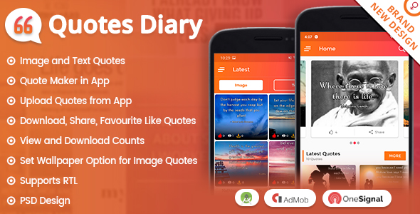 Android Quotes Diary (Image, Text Quotes, Quote Maker, Upload)